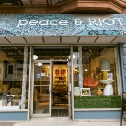"""<b>↑</b> Bed-Stuy dwellers have recently welcomed eclectic home goods store <b><a href="""" http://www.peaceandriot.com/"""">Peace & Riot</a></b> (492 Nostrand Avenue) to the neighborhood. If you're lucky, married owners Lionel Sanchez and Achuziam Maha-Sanchez"""