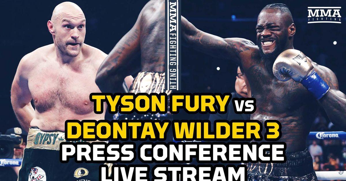 Tyson Fury vs. Deontay Wilder 3 press conference video