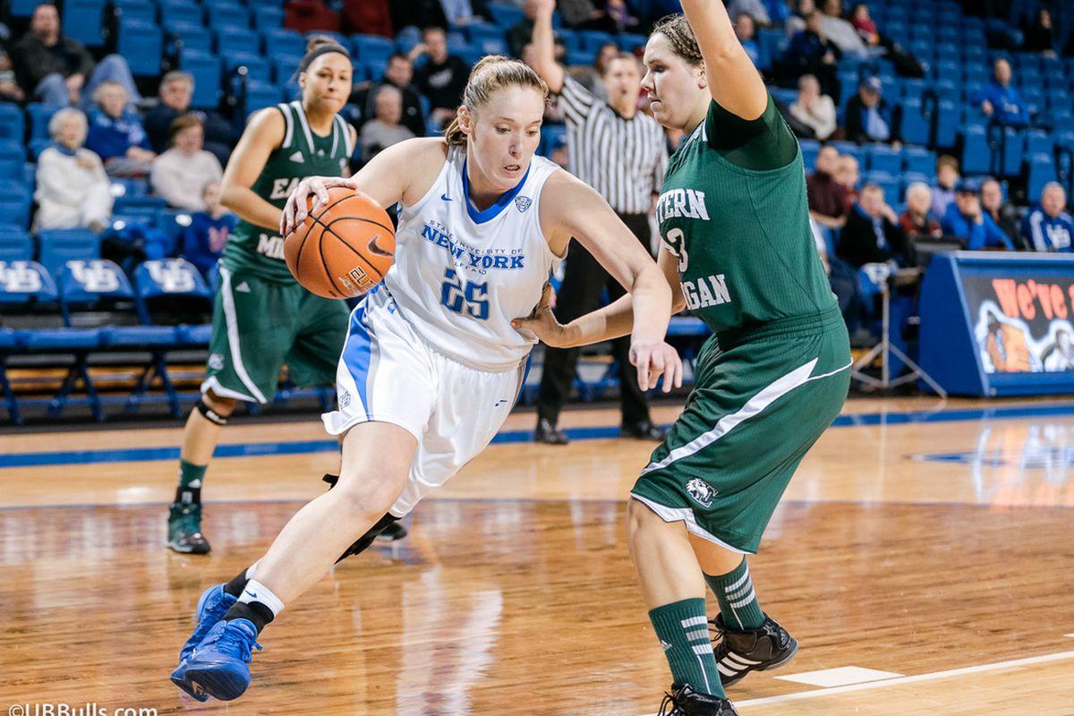 Mackenzie Loesing scored 19 points in UB's 74-61 win in Millett Hall