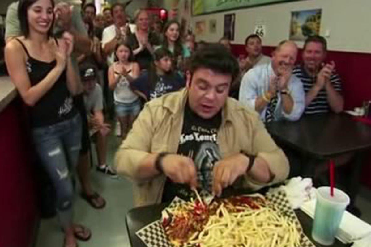 Man Vs Food Chicago Hot Dog