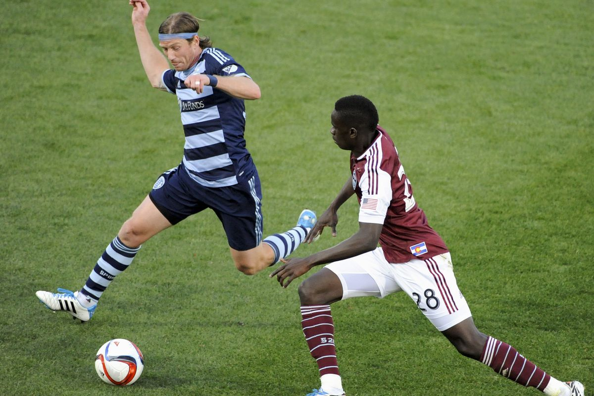 The Answer asking questions of the Colorado Rapids on Wednesday.