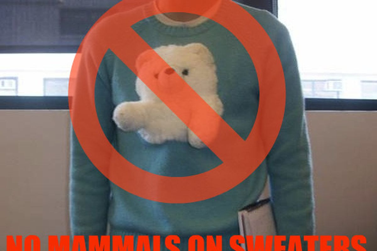 """Bear sweater, via <a href=""""http://thestylester.com/fashion/insane-animal-sweater/"""">Stylester</a>"""