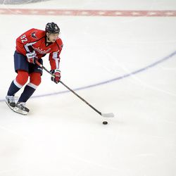 Kuznetsov With Puck in Neutral Zone
