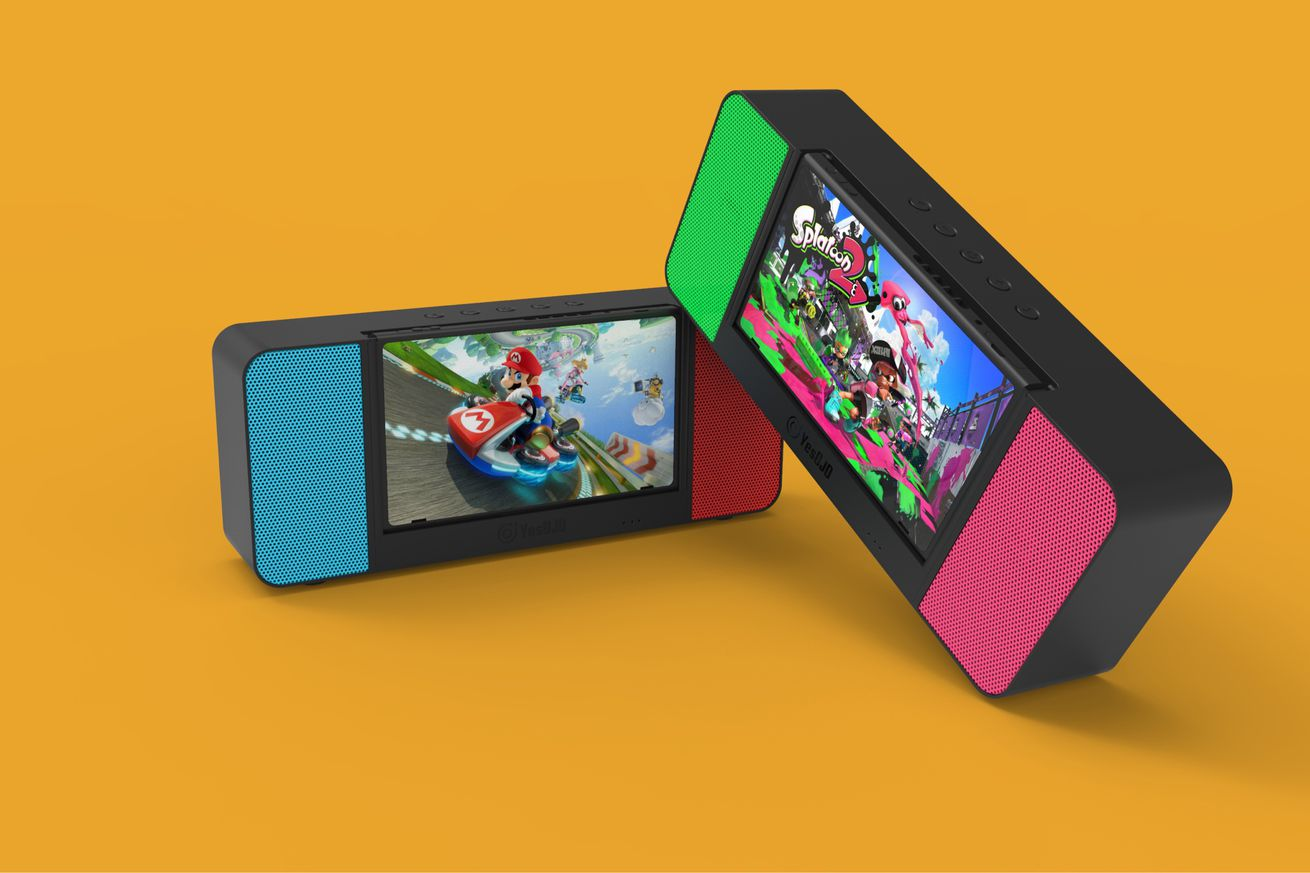 yesojo s switch speaker dock looks like a slick way to play on the go