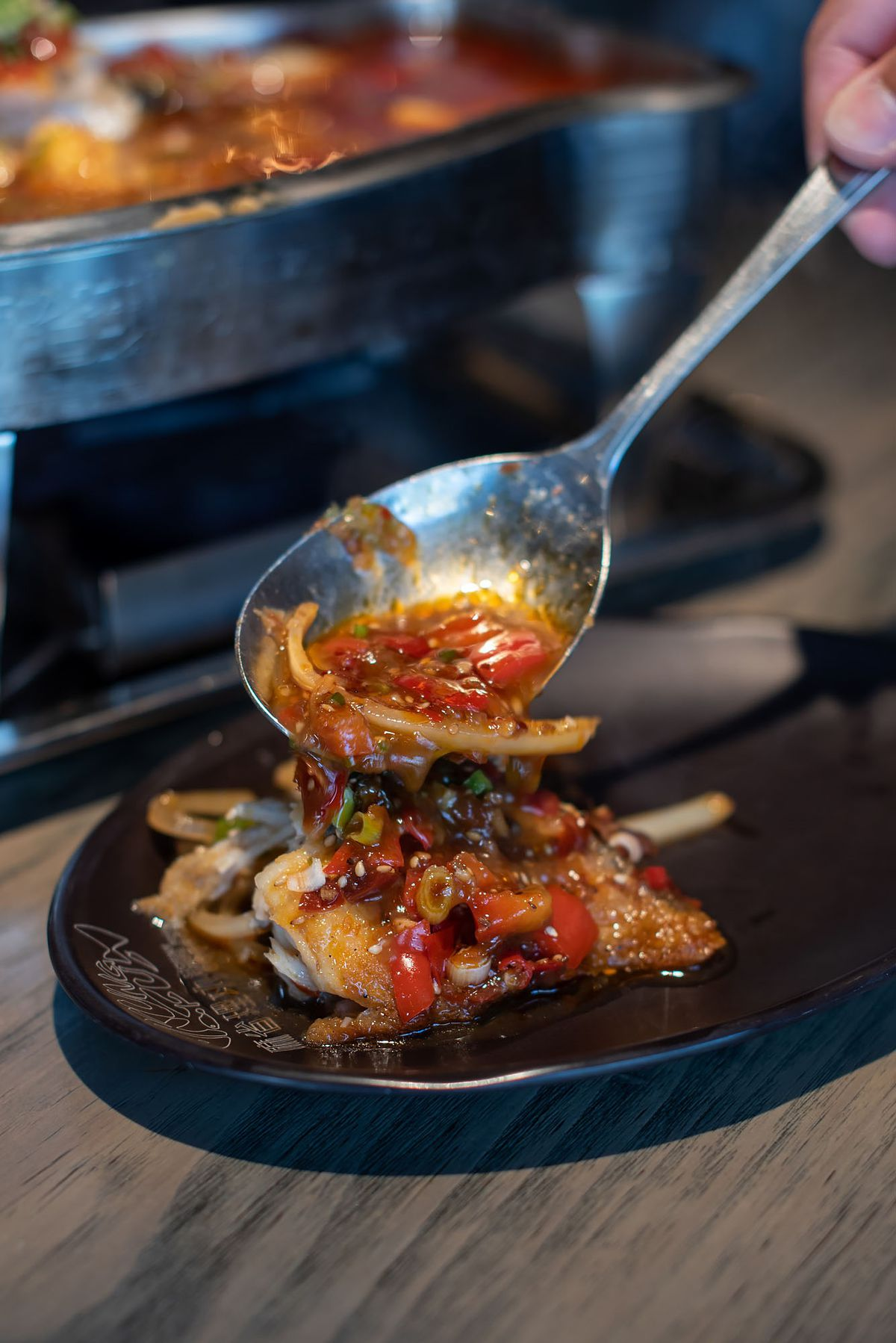Pan-roasted black cod at Sichuan Kungfu Fish