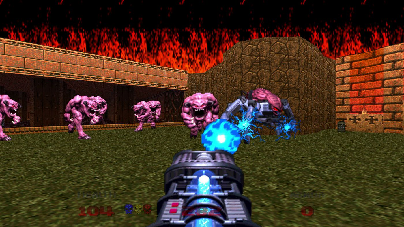 How Lost Classic Doom 64 Was Revived For Modern Platforms The Verge Even with super awesome textures it's still going to look funky because of it looks pretty cool with the texture updates but the blood was just a bit much, half the time you couldn't. how lost classic doom 64 was revived