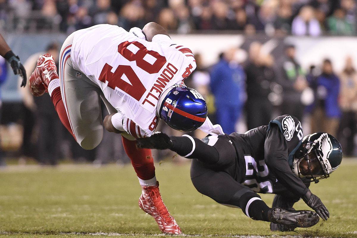 Larry Donnell has yet to be cleared following a 2015 neck injury