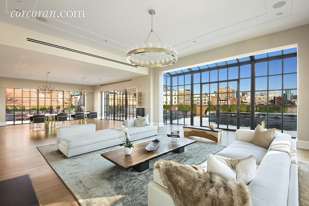 Puck building 39 s most expensive penthouse returns to the for Penthouse apartment for sale