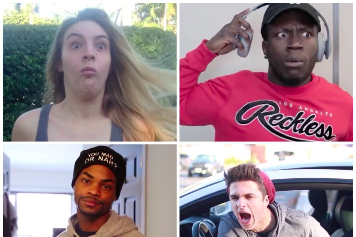 Vine Stars Clockwise From Upper Left Lele Pons Jerry Purpdrank King Bach And Brent Rivera Vine