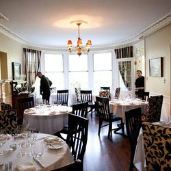 <strong>Carmen at The Danforth,</strong> West End. One of Portland's newest and most-heralded restaurants blends seamlessly into its gracious surroundings at a boutique inn. Tall windows, formal fireplaces and white linen-draped tables create an atmospher