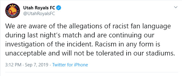 We all have a responsibility to kick racism out of NWSL
