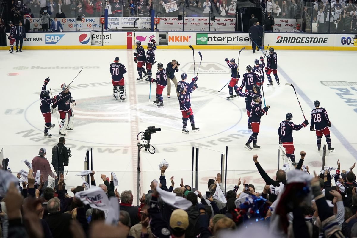 NHL: Stanley Cup Playoffs-Tampa Bay Lightning at Columbus Blue Jackets