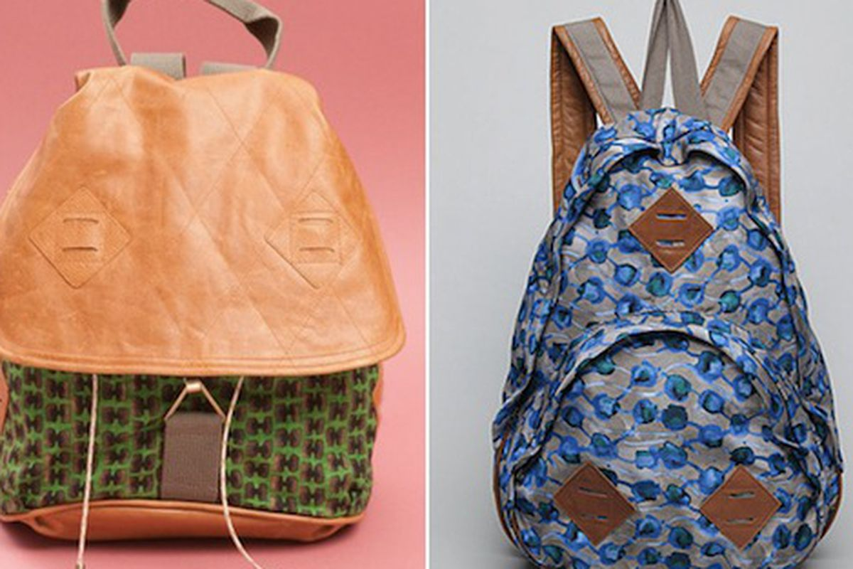 """They're cute, but can they really hold enough supplies for a serious hiker? Image via <a href=""""http://www.refinery29.com/rachel-comeys-hiking-accessories-are-finally-available.php"""">Refinery 29</a>."""