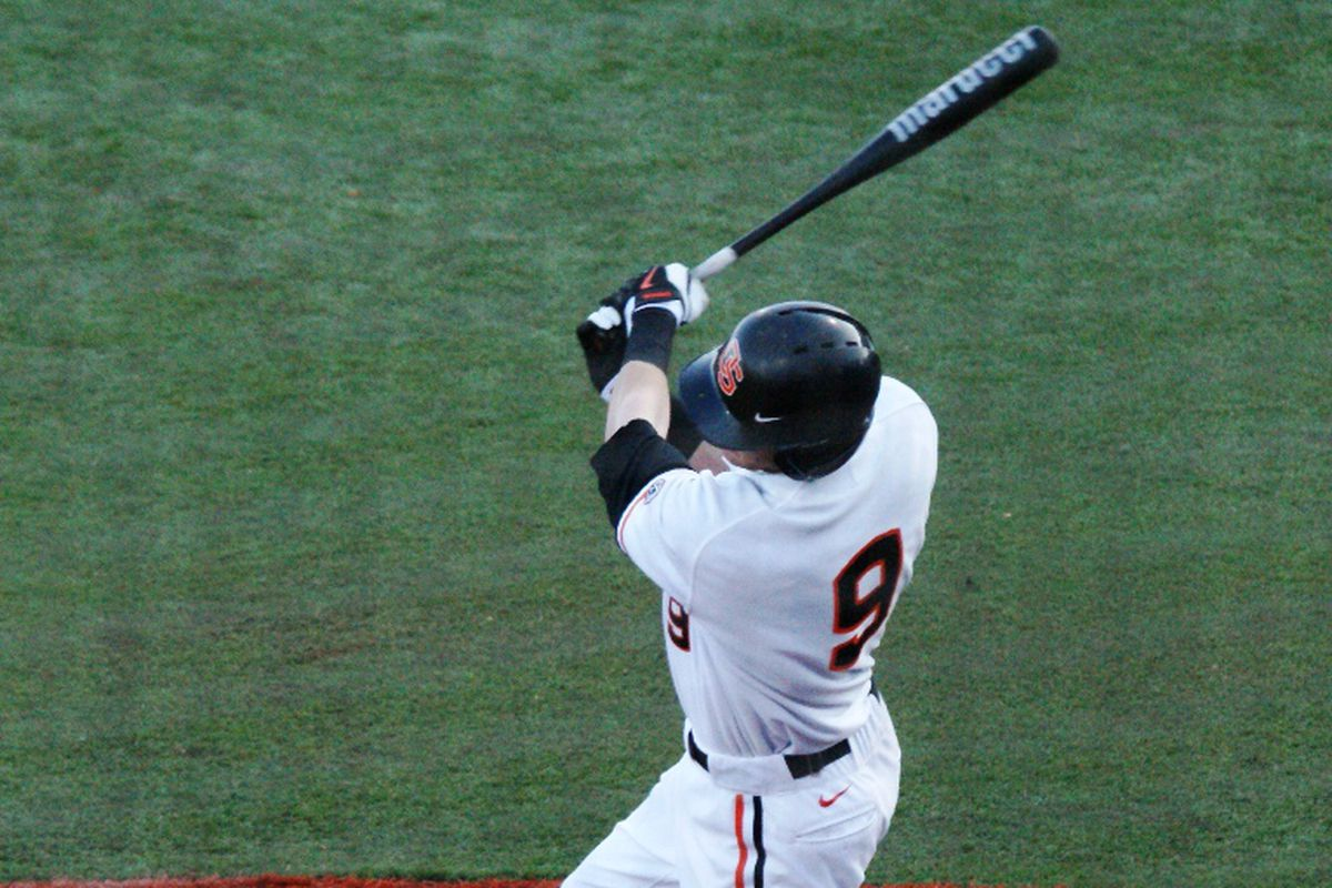 Danny Hayes went 3 for 5 Friday night for Oregon St. The Beavers have been looking forward to Hayes' bat coming alive, and another such effort will go a long ways toward winning the series against San Diego.