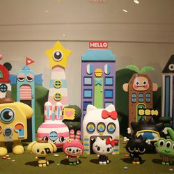 """""""Pomme Party!"""" by Tado is among the crazy-cool artwork inspired by Hello Kitty's world."""