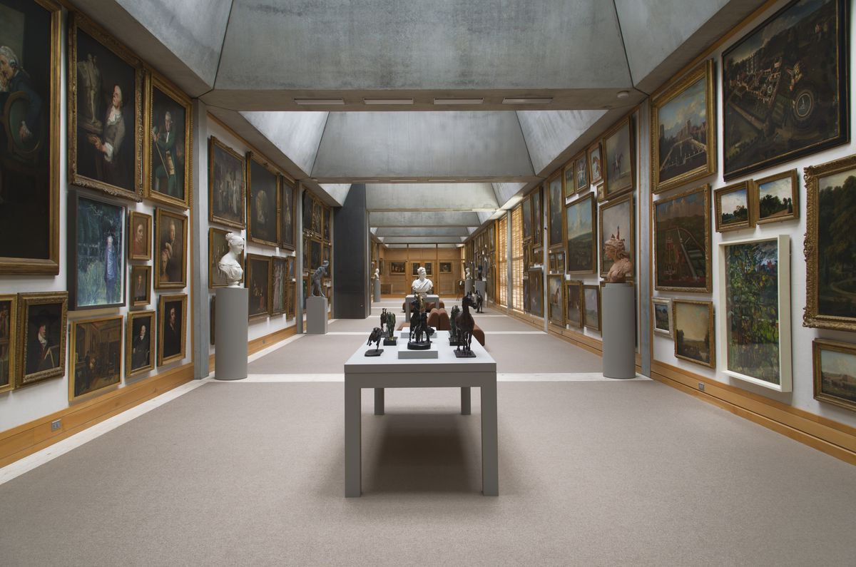 Yale Center for British Art, fourth floor, Long Gallery following reinstallation