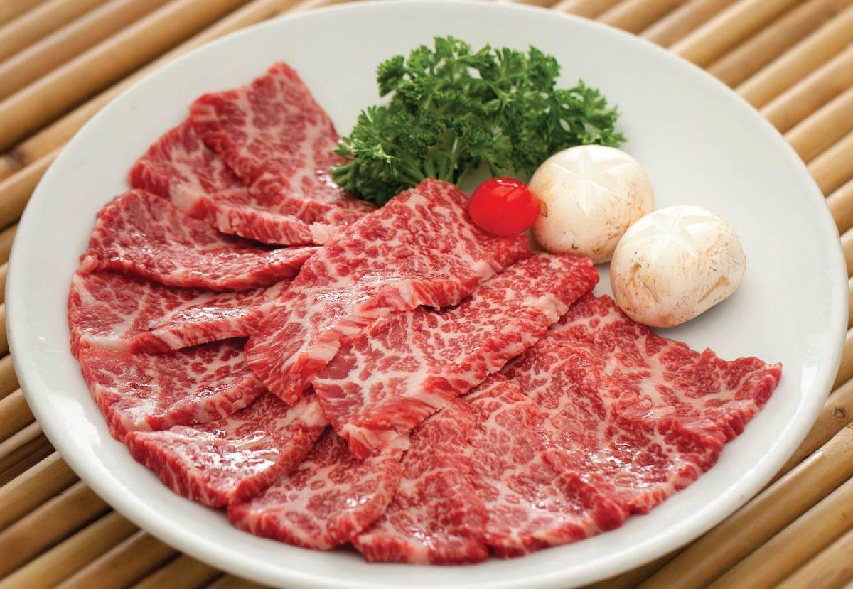 Chosun Galbee kkotssal arrayed on a plate