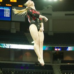 Utah's Georgia Dabritz finished 10th in the individual vault finals at the NCAA championships on Sunday.