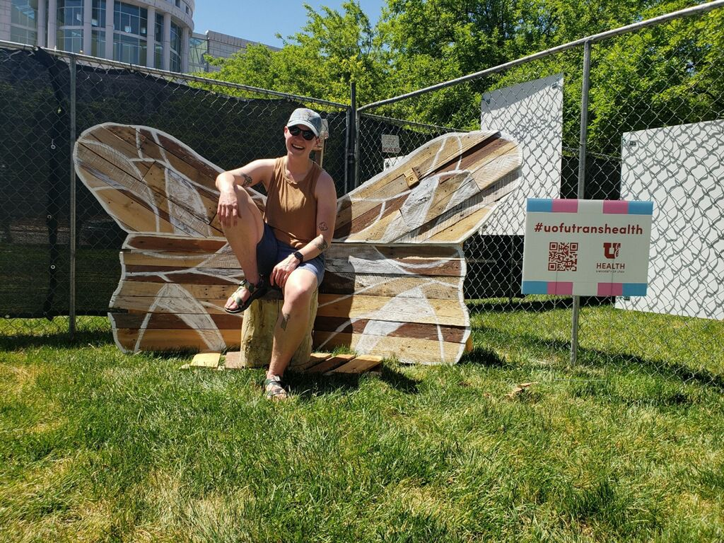 Barhorst's piece commissioned by the University of Utah Transgender Health Services at the 2021 Story Garden.
