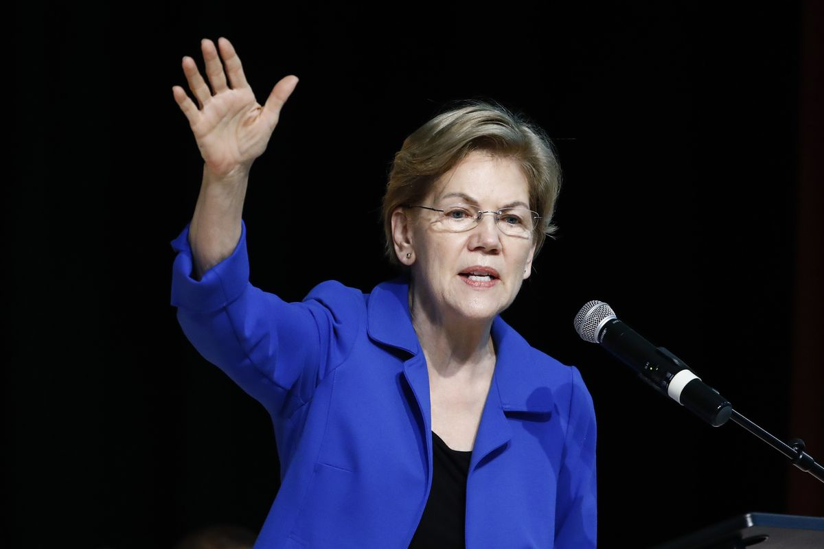 In this Feb. 26, 2020 file photo Democratic presidential candidate Sen. Elizabeth Warren, D-Mass., speaks at the National Action Network South Carolina Ministers' Breakfast in North Charleston, S.C.
