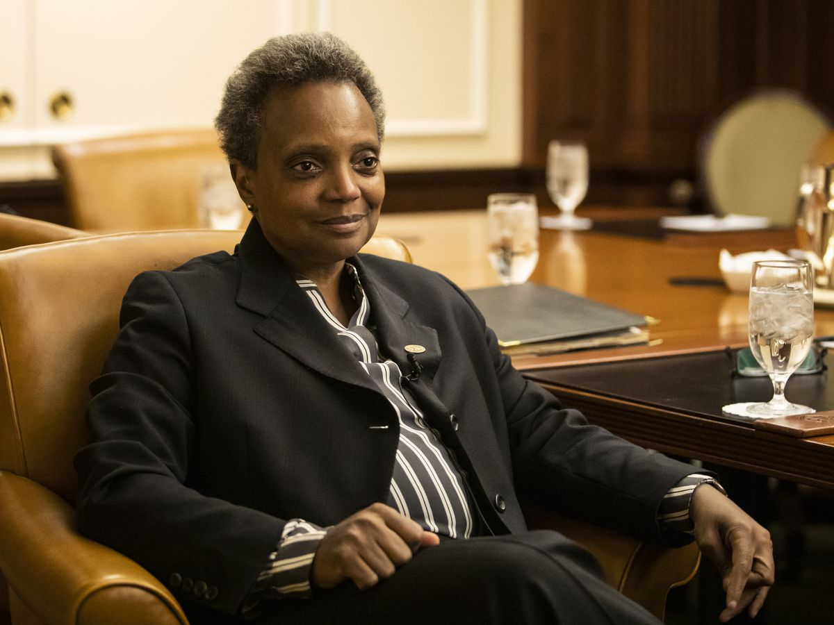 Mayor Lori Lightfoot sits down for a conversation with the Chicago Sun-Times at the Union League Club of Chicago, Friday afternoon, Nov. 8, 2019.