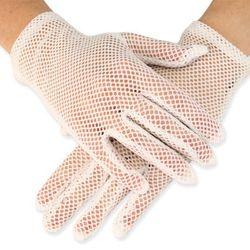 Ladies Emporium, white crochet gloves, $9, ladiesemporium.com