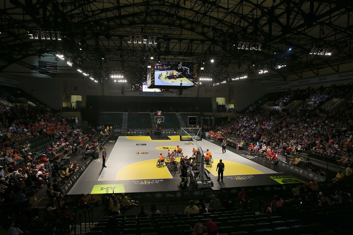A general overview of the court during the Invictus Games Orlando 2016 Wheelchair Basketball Finals at the ESPN Wide World of Sports Complex on May 12, 2016 in Lake Buena Vista, Florida.