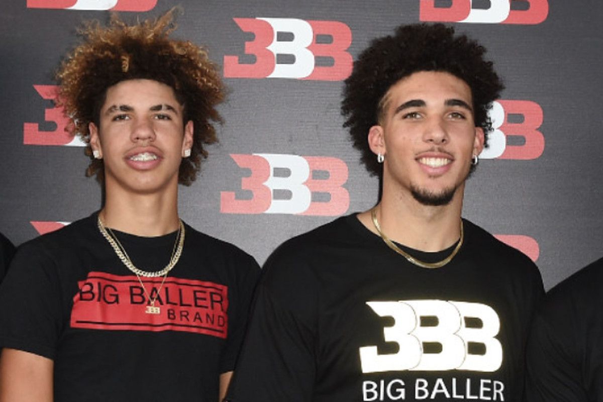 aacb30a0884 LaMelo Ball and LiAngelo Ball are leaving their Lithuania professional  team. | Joshua Blanchard/Getty Images for Crosswalk Productions