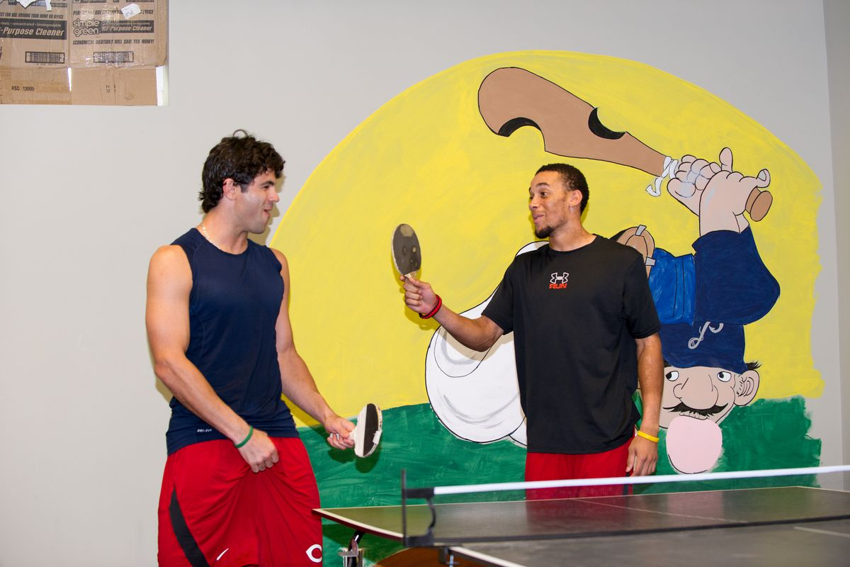 Random search term of the day: biscuit. It gets you guy grabbing crotch while playing ping pong.
