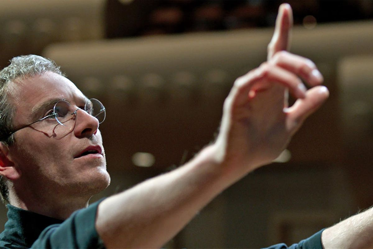 Michael Fassbender in Steve Jobs, which underperformed in its first week of wide release, despite Oscar buzz.