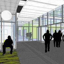 An artist's rendering of Salt Lake Community College's new Westpointe Career and Technical Education Center in Salt Lake City. Construction on the new facility was scheduled to begin with a ceremonial groundbreaking on Wednesday, June 1, 2016.