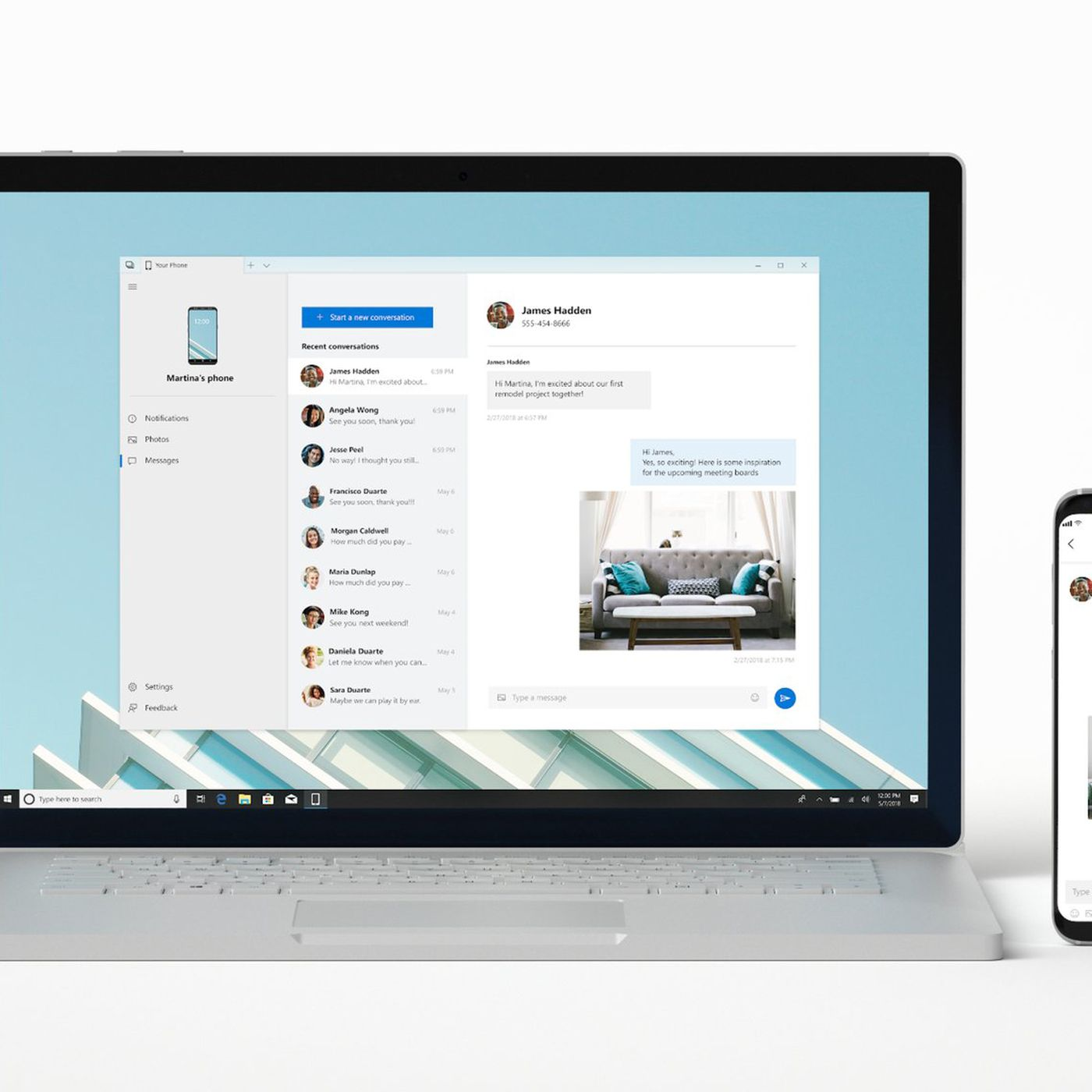 Windows 10 users can now try Microsoft's Your Phone app to mirror