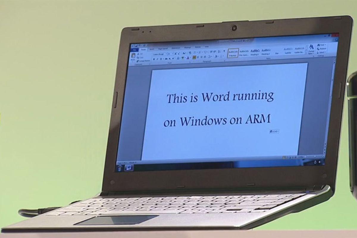 Office running on Windows 8 ARM