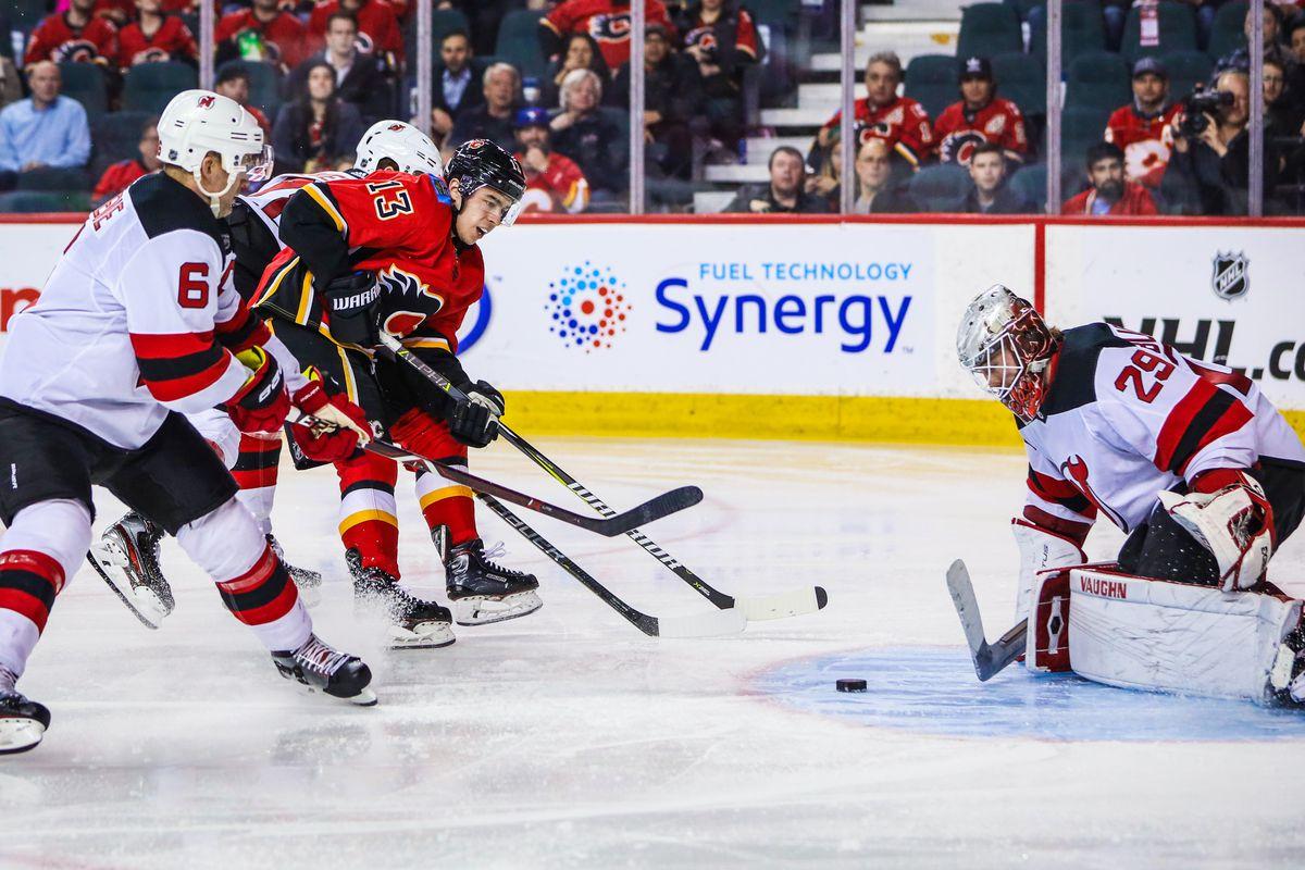 NHL: New Jersey Devils at Calgary Flames
