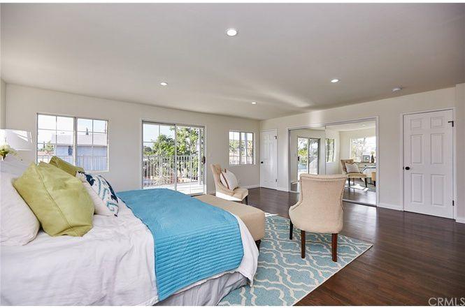 Bedroom with sliding door to balcony