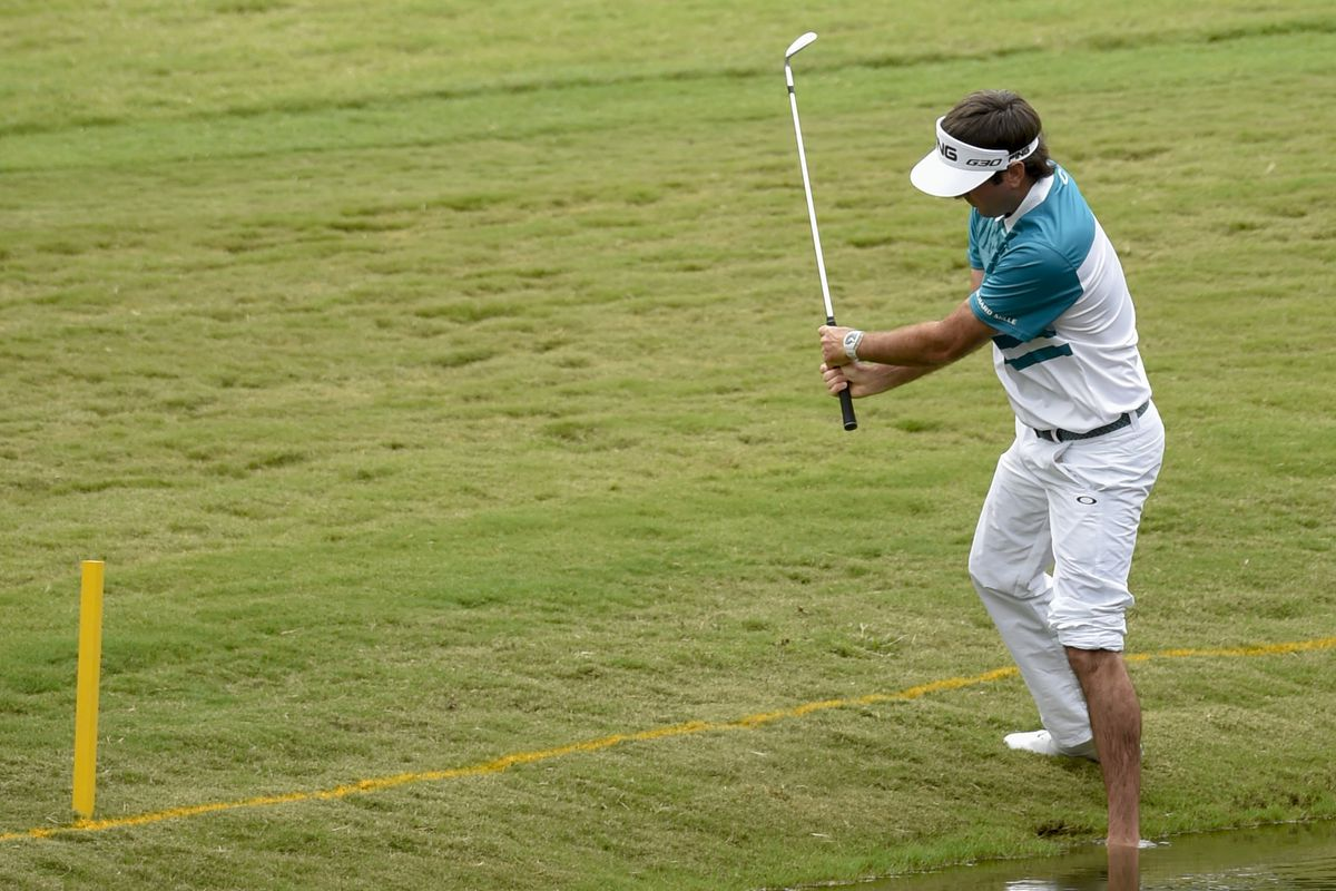 A golfer named Bubba playing barefoot. So you know, he's originally from Florida.