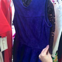Indigo suede dress, $125