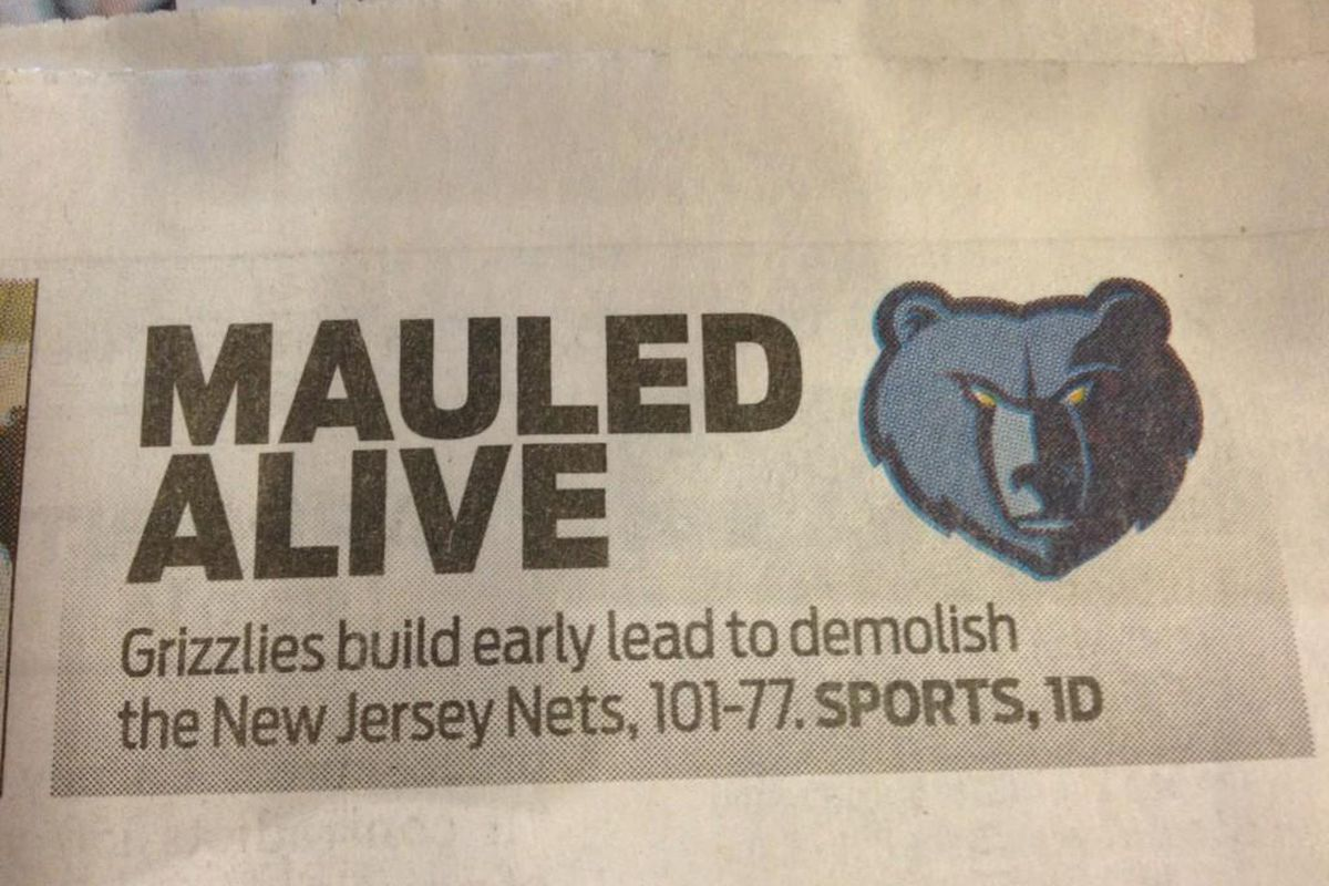 online store 4a10c 36752 Shots fired? Memphis paper refers to the Brooklyn Nets as ...