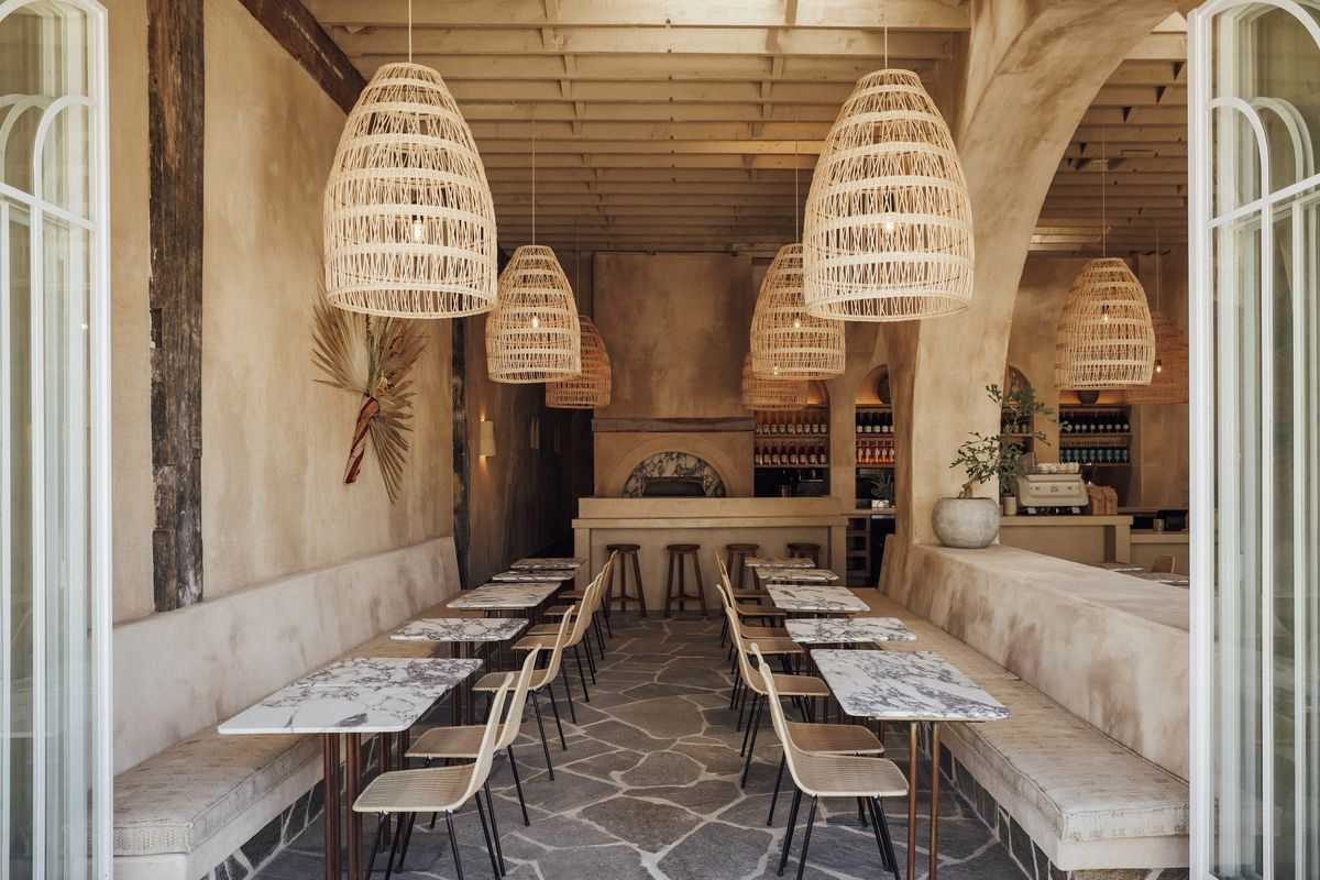 Dining room at Great White Larchmont.