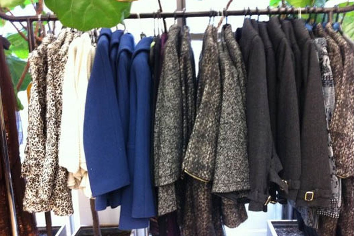 """A quiet moment at the <a href=""""http://ny.racked.com/archives/2010/11/10/vivienne_tam_sale.php#above-the-fray-vivienne-tam-9"""">Vivienne Tam sale</a>. (Now picture this room packed with dudes.)"""