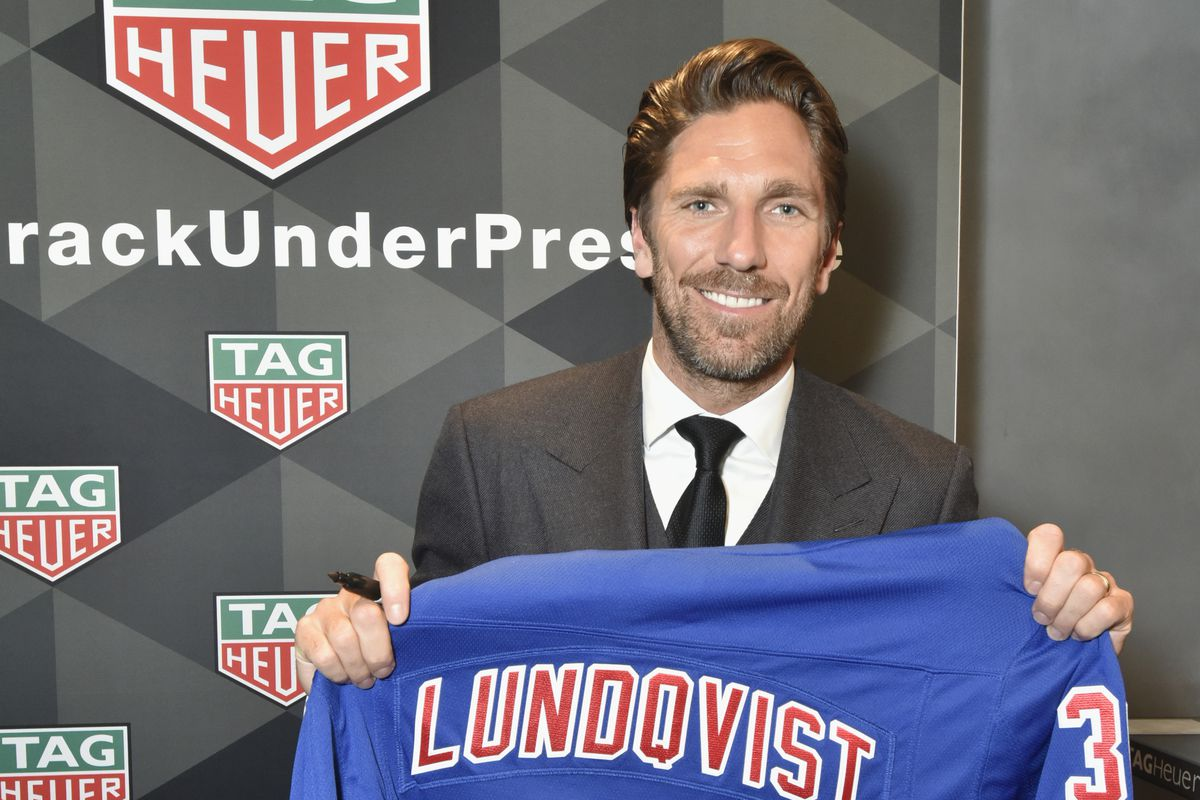 NY Rangers Goalie And TAG Heuer Brand Ambassador, Henrik Lundqvist, Celebrates The Opening Of The New Fifth Avenue Flagship Boutique