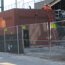 Gate K/J, the east building is receiving finishing touches