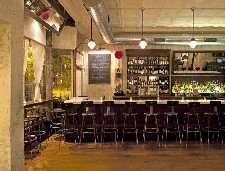 The bar at Lula Cafe in Logan Square.