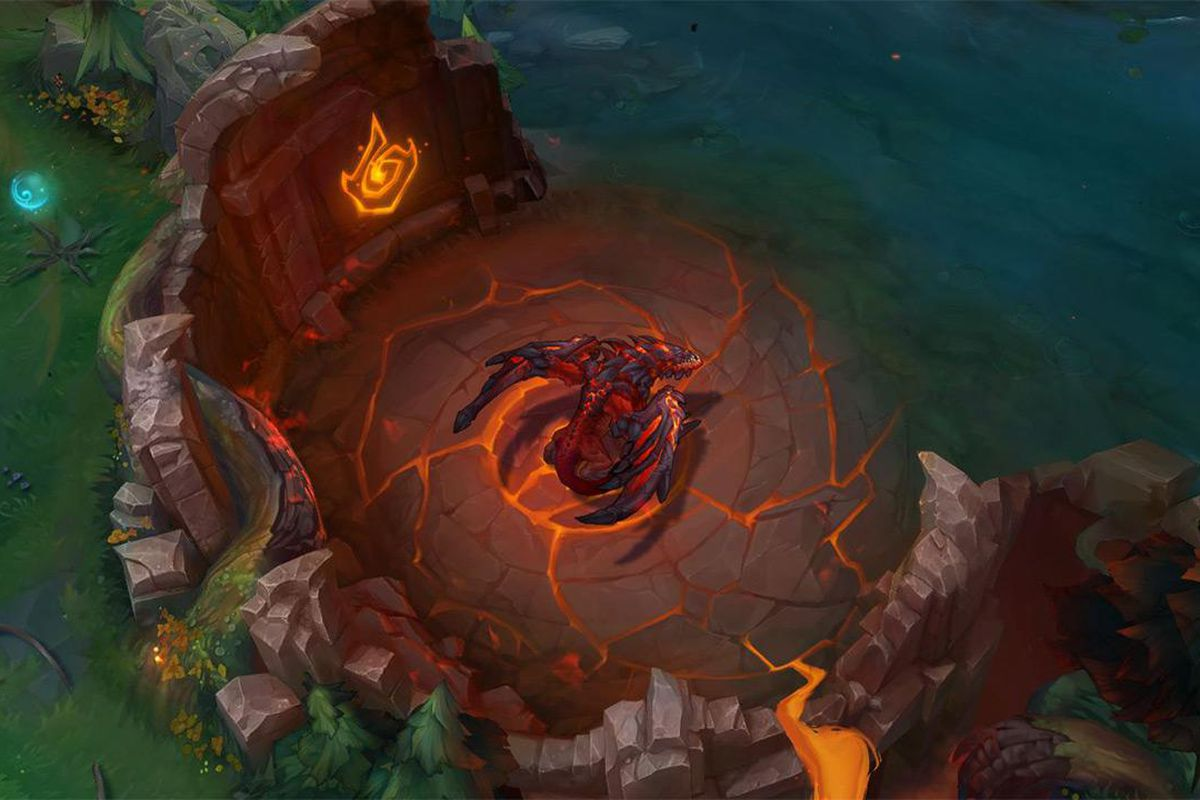 The dragon pit when Summoner's Rift has been changed to Infernal