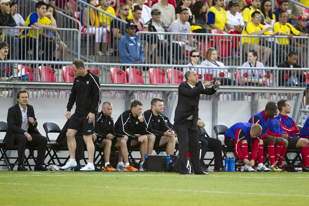 Stephen Hart and the Canadian coaching staff have some work to do. (Paul Giamou/Canadian Soccer Association)