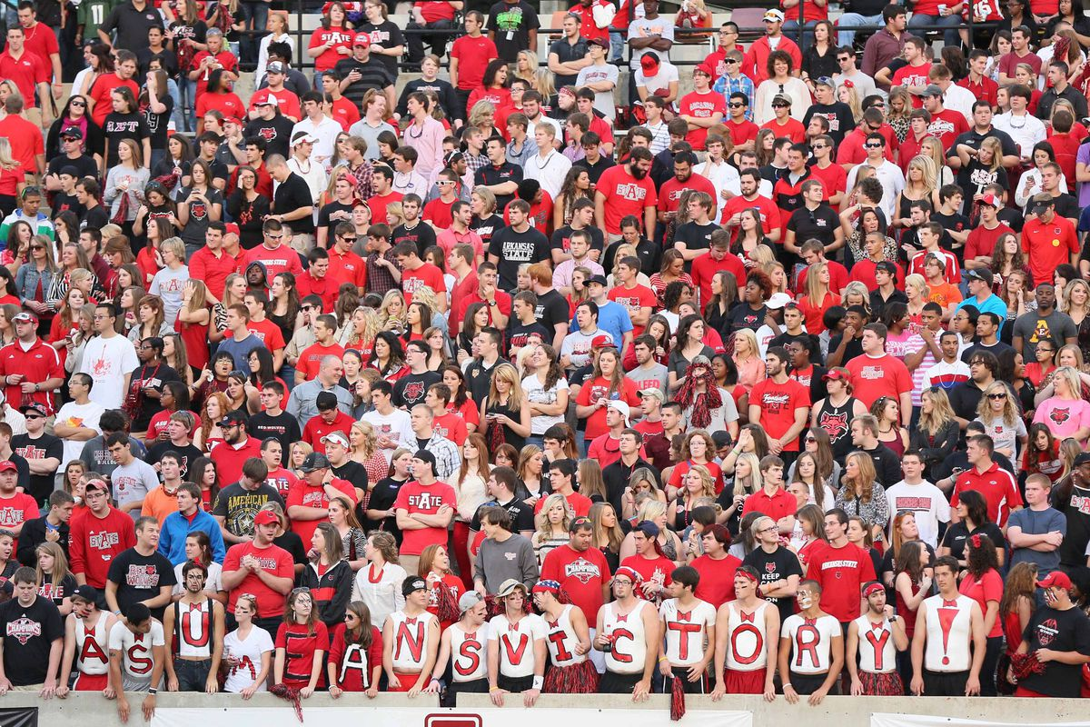 Arkansas State has one of the rowdier student sections in the Sun Belt.