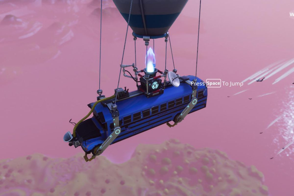 in fortnite battle royale players leap from a battle bus held aloft by a kind of hot air balloon it s a nod to playerunknown s battlegrounds military - fortnite hot air balloon