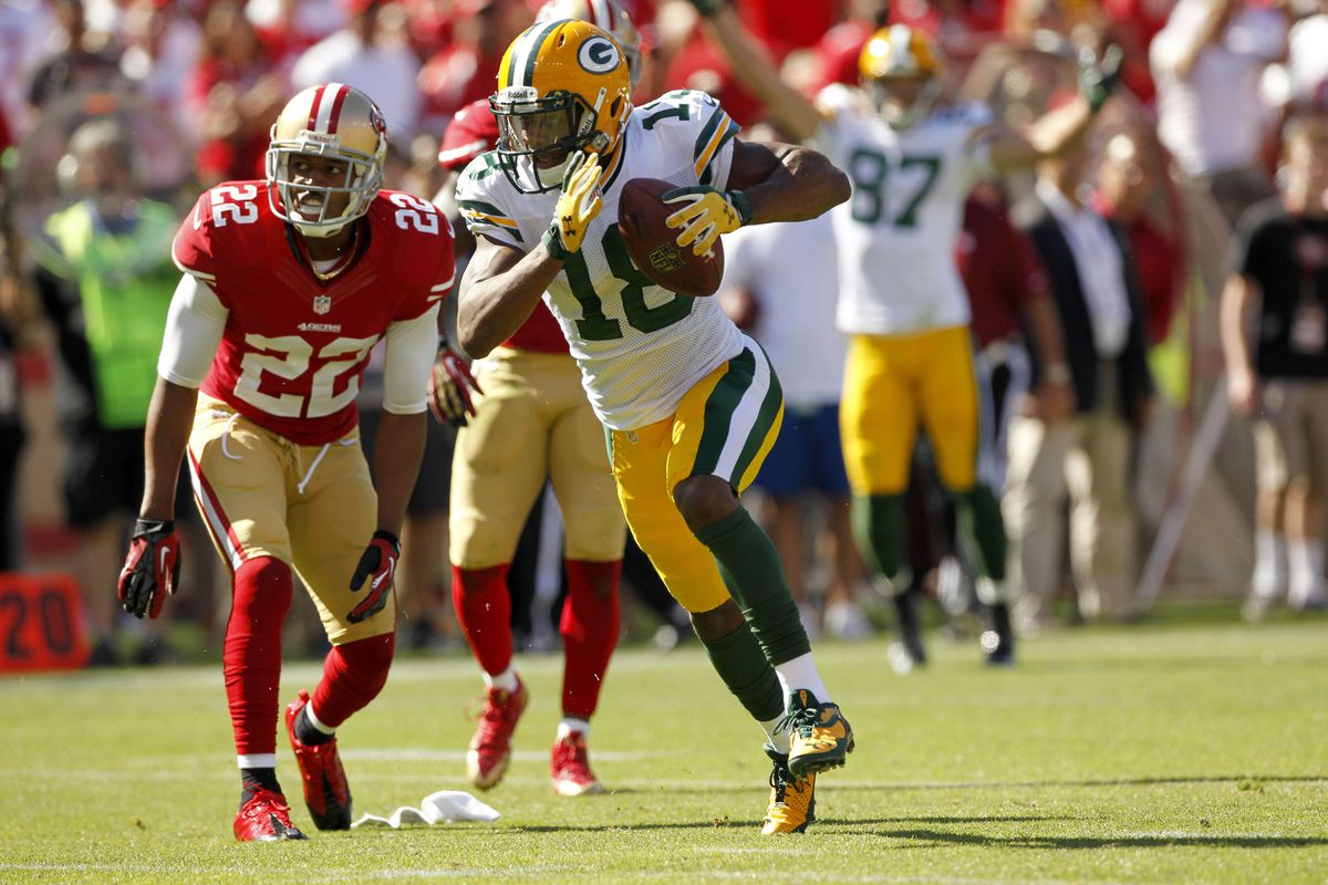 Packers receiver Randall Cobb is back for the first-round rematch against San Francisco.