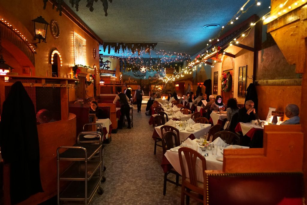 The dining room at Italian Village, now officially known as The Village.