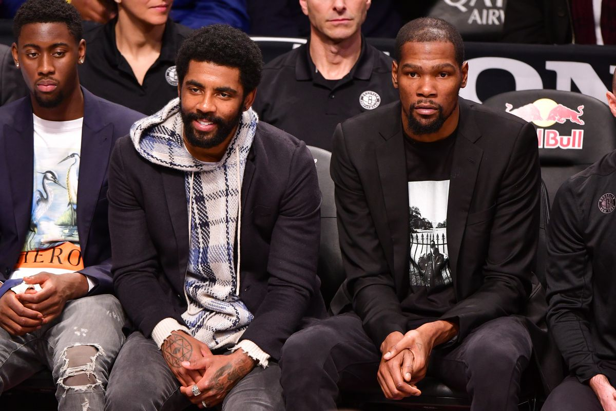 Celebrities Attend Philadelphia 76ers v Brooklyn Nets Game